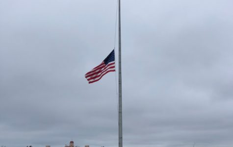 The large American flag at Lido West is held at half mast out of respect for the lives lost during this pandemic. Nassau county has recorded 39,487 confirmed cases of Covid-19, and 2,073 deaths. The local community has suffered immensely.